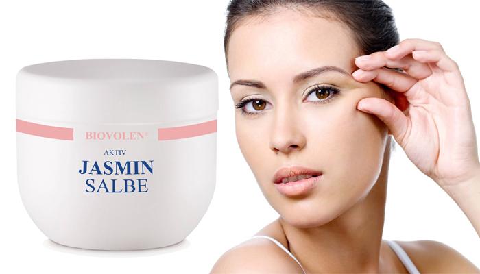 Aktiv Jasminsalbe für die Haut um die Augen: Schöne Augen ohne Make-Up
