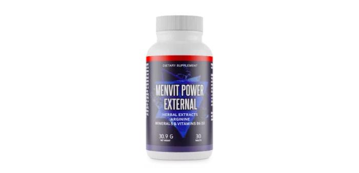 Menvit Power External für das Muskelwachstum: erhöhen sie Ihre Muskelmasse um 80%